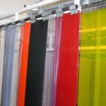 Folia PCV kolorowa w pasach